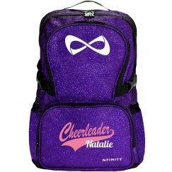 Cheerleader Logo Sparkly Custom Cheer Bag