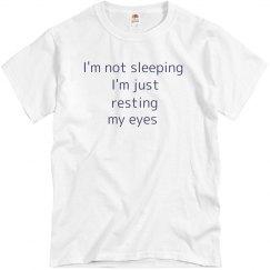 Not sleeping