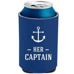 Her Captain Mermaid Beer Koozie