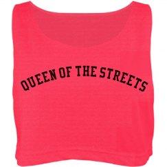 Queen of the streets crop top