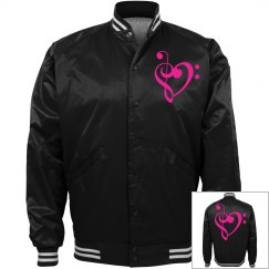 Neon Pink Treble & Bass Clef Heart