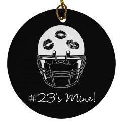 Girl's Football Christmas Ornament With Custom Name