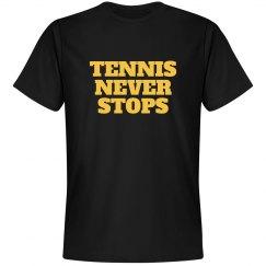 Tennis never stops