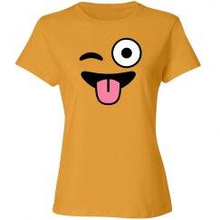 Winking Smiley Emoji Costume