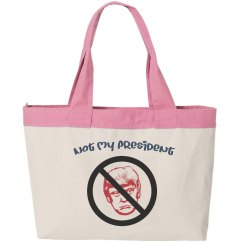 Not My President - Canvas Zippered Tote