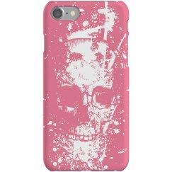 Pink Skull Graffiti