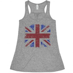 Union Jack Flowy Tank Top