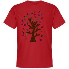 Autumn Rainbow tree Tee