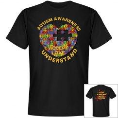 Autism Heart Puzzle Black Tee