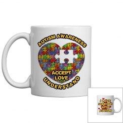 Autism Heart Puzzle Mug