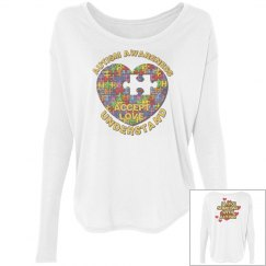Autism Heart Puzzle Long Sleeve