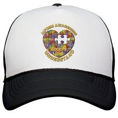 Autism Heart Puzzle Hat 2