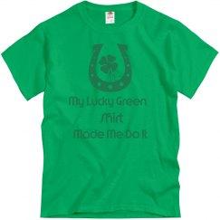 Green shirt made me do it