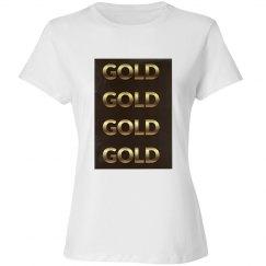GOLD - ALPHABET PRINT