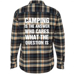 Camping Is The Answer Flannel