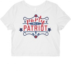 July 4th Patriotic Partier Crop