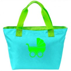 Neon Green Baby Carriage