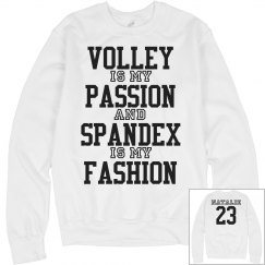 Trendy Volleyball Girl Fleece With Custom Name