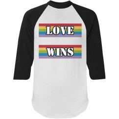 LOVE WINS UNISEX RAGLAN