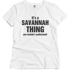 It's a Savannah thing