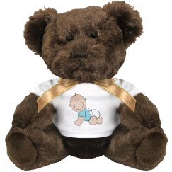 Baby Boy Plush Bear