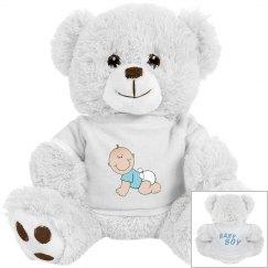 Baby Boy Plush Bear