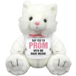 Go To Prom With Me Cat Pun