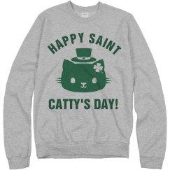 St. Catty's Day Irish Green Cat