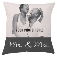 Custom Upload Mr & Mrs Wedding Gift