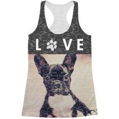Custom Love Pet Photo Tank