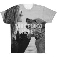 All Over Print Custom Upload Tshirt