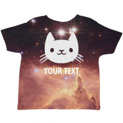 Space Cat Custom Text For Toddler