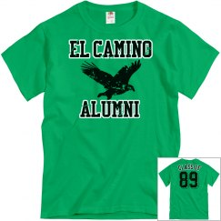 EL CAMINO ALUMNI Kelly Green Distressed
