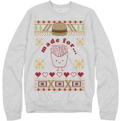 Burger And Fries Sweater Couple 1