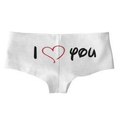 i love you panties