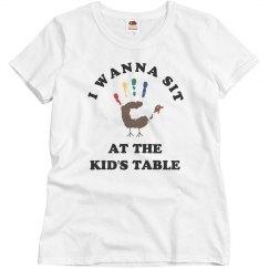 Thanksgiving Humor Kids Table