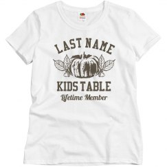 Custom Kids Table Lifetime Member