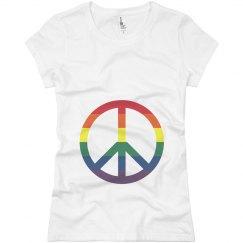 Gay Pride Peace Symbol