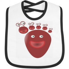 Happy Toes Baby Bib