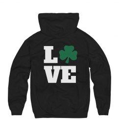 Rhinestone Clover Love