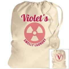 VIOLET. Laundry bag