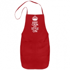 Keep Calm and Style On Stylist Apron