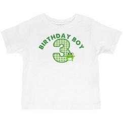 3rd Birthday Boy Frog
