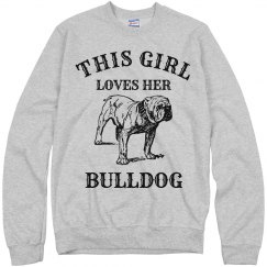 Girl loves her Bulldog
