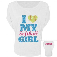 Softball Mom Heart