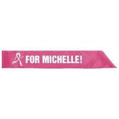 Pink Breast Cancer Sash With Custom Name