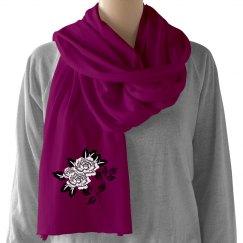 Flower scarf 8