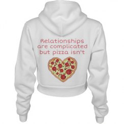 Relationships Are Complicated Crop Hoodie