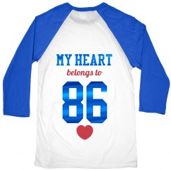 Metallic My Heart Belongs To Raglan