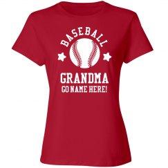 Rhinestone Custom Baseball Grandma